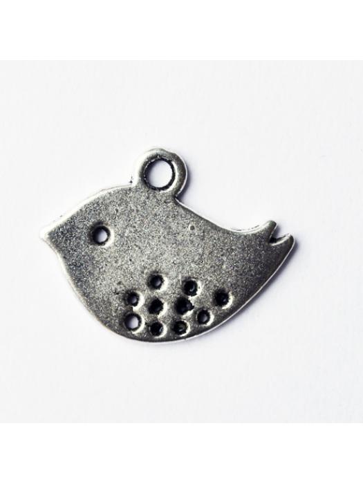 Pendant bird silver
