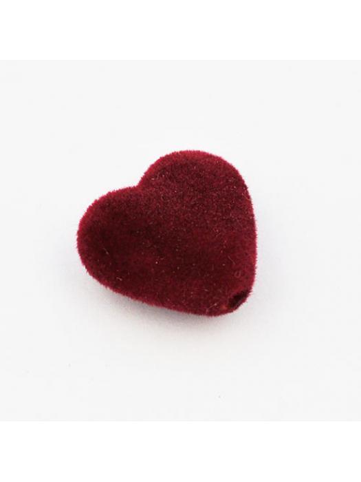 Acrylic bead heart velvet