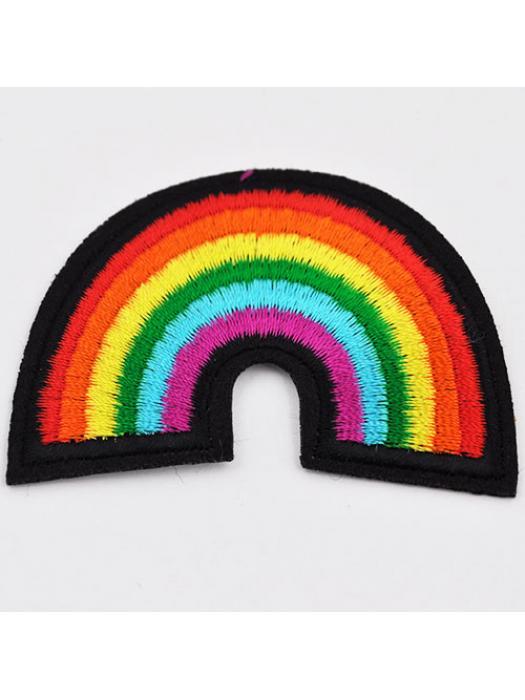 Embroidery rainbow