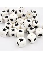 Bead silicone star black