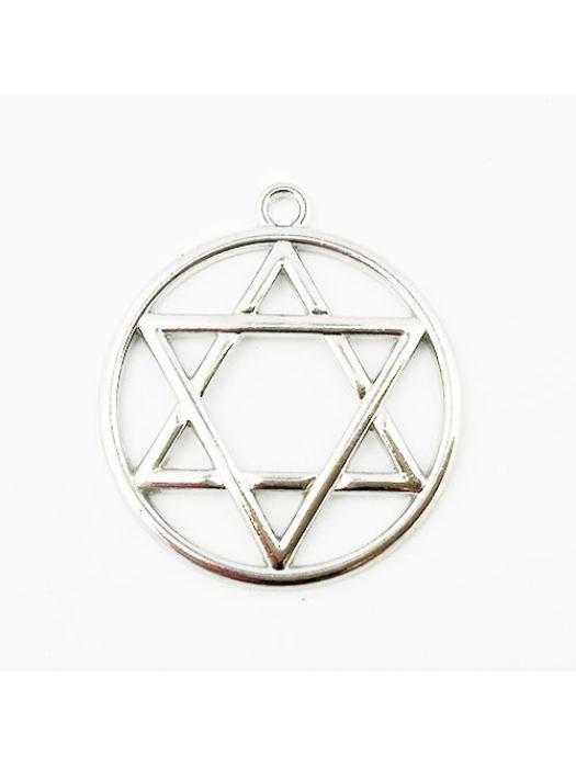 Pendant silver star of david
