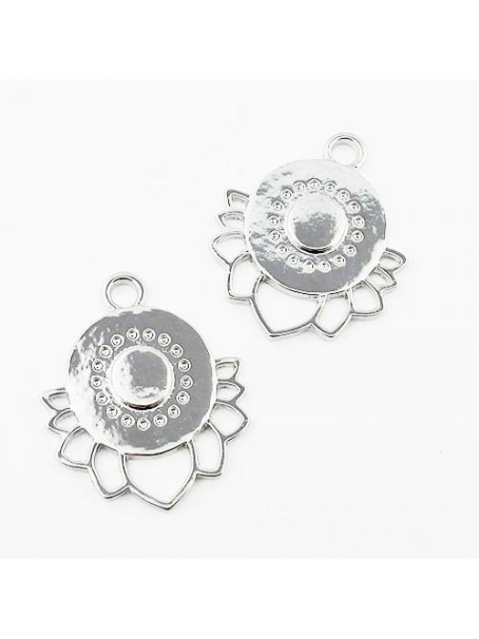 Pendant silver lotus flower