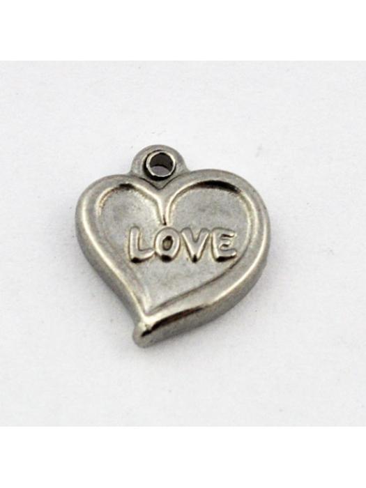 Pendant Stainless Steel heart love
