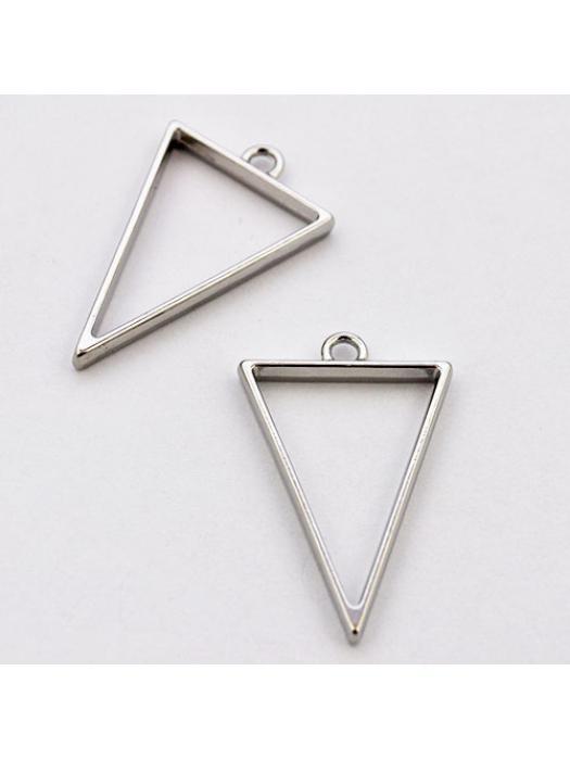 Pendant  link silver triangel