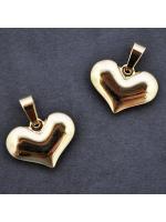 Pendant Stainless Steel gold heart