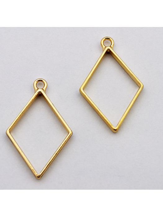 Pendant  link gold rhombus