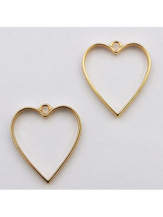Pendant  link gold heart