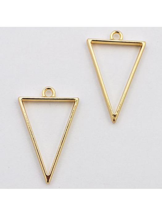 Pendant  link gold triangel