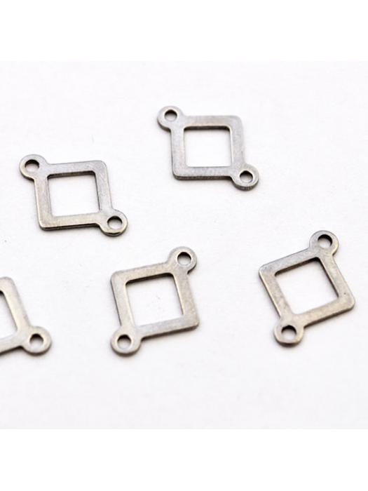 Pendant Stainless Steel  silver rhombus