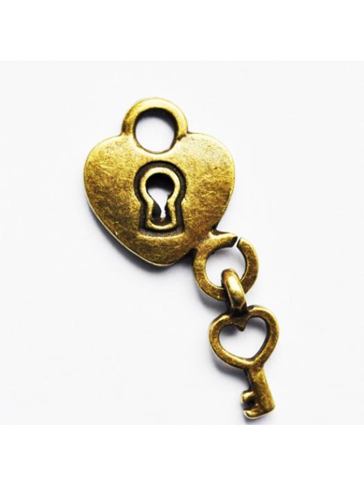 Pendant lock-heart