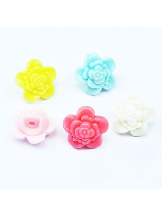 Button flower acrylic 2 szt.