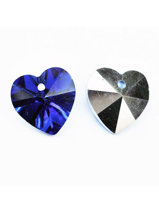 Beads heart blue
