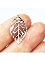 Pendant leaf silver light