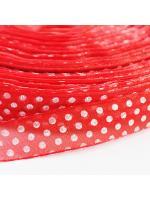 Ribbon organza dot red