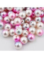 Acrylic bead 10 mm 10 pcs pink