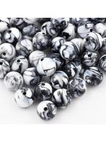 Acrylic bead 10 mm 10 pcs back white