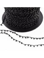 Cord seed bead black
