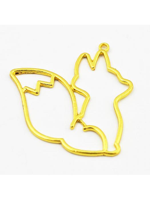 Pendant gold fox 41 x 38,5