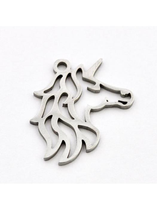 Pendant Stainless Steel unicorn