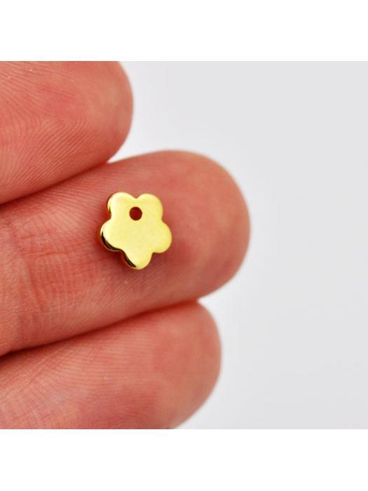 Pendant Stainless Steel gold flower tiny