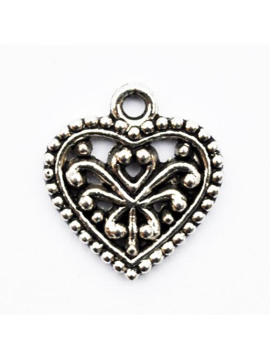Pendant heart silver