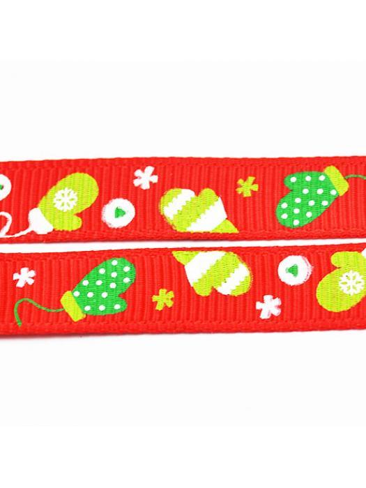 Ribbon gloves christmas