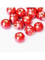Porcelain 10 mm red