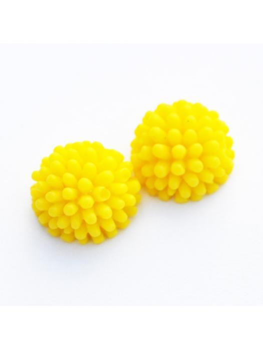 Cabochon  hedgehog yellow