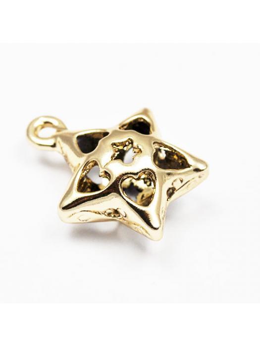 Bead gold star 3 D