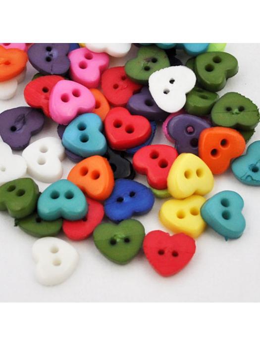 Button heart 6 mm