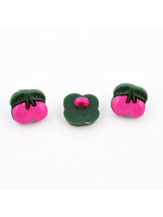 Button cherry plastic pink