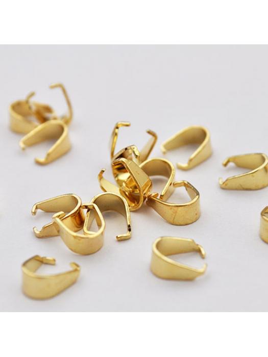 Pinch bail gold 7 x 6 mm