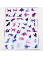 Resin pvc pattern galaxy cats