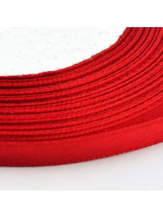 Ribbon satin 6 mm red