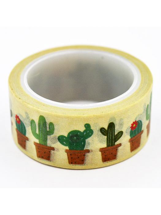 Washi tape cactus