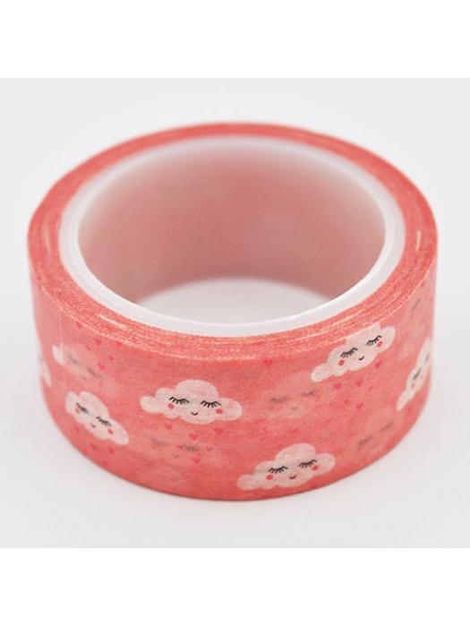 Washi tape cloud red