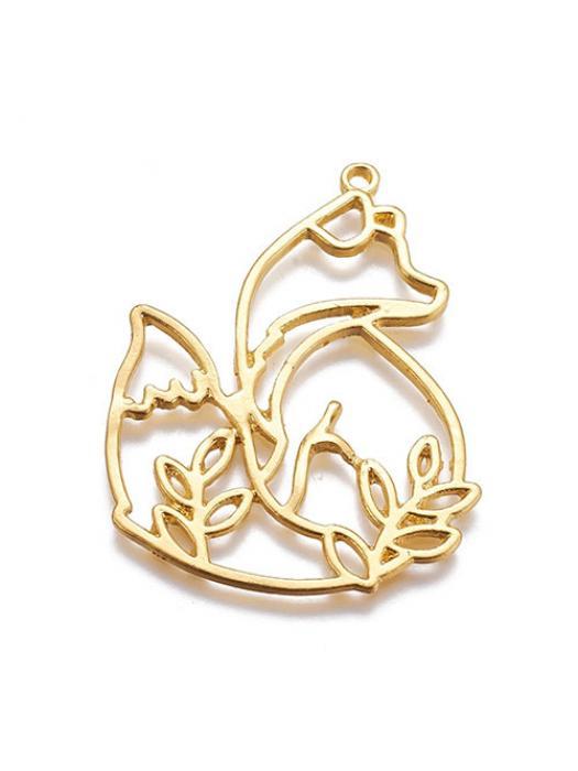 Pendant gold fox leaves