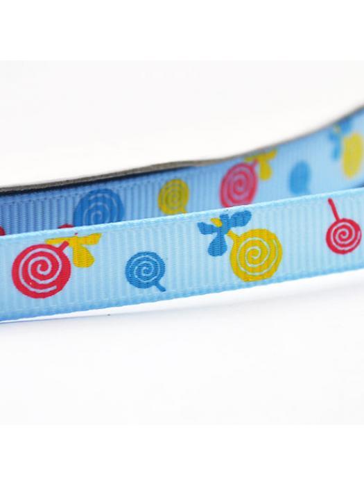 Ribbon blue candy 9 mm