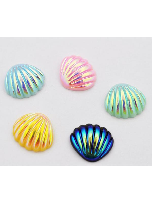 Cabochon shell purpel