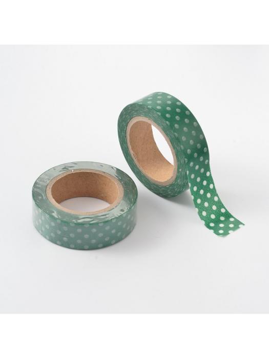 Washi tape green dots