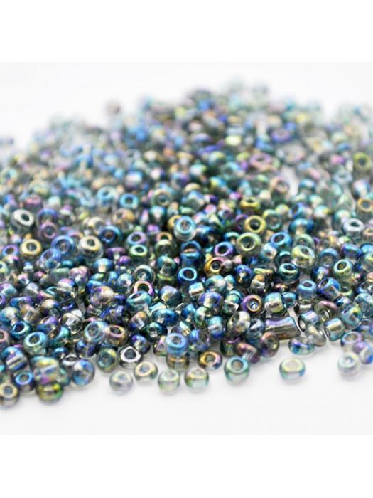 Seed bead grey rainbow