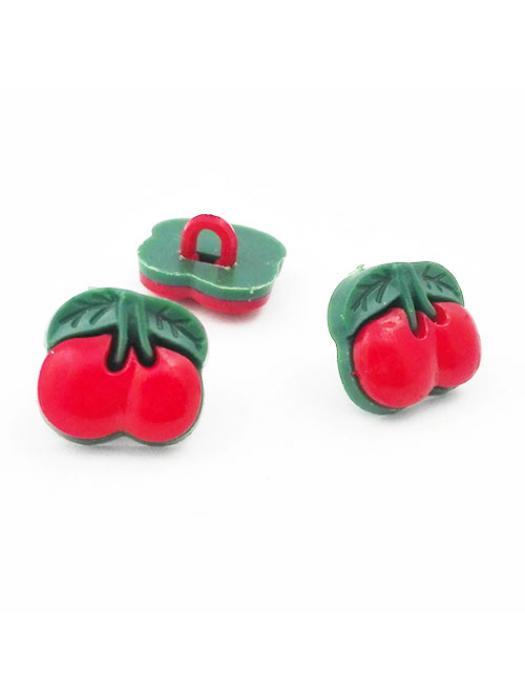 Button cherry plastic