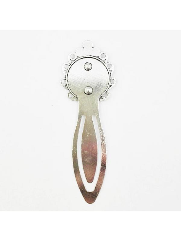 Bookmark silver 20 mm flower