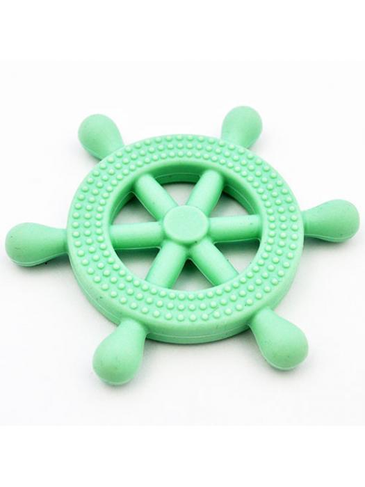 Bead silicone Teething wheel blue