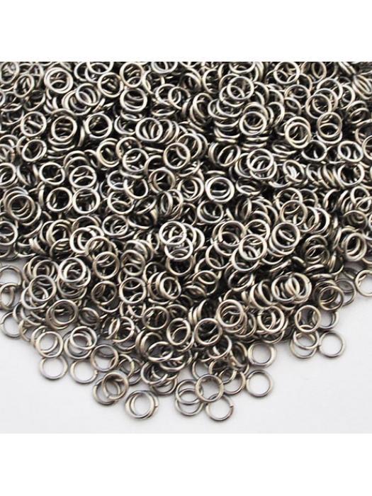 Jump ring loop 4 mm steel 25 pcs
