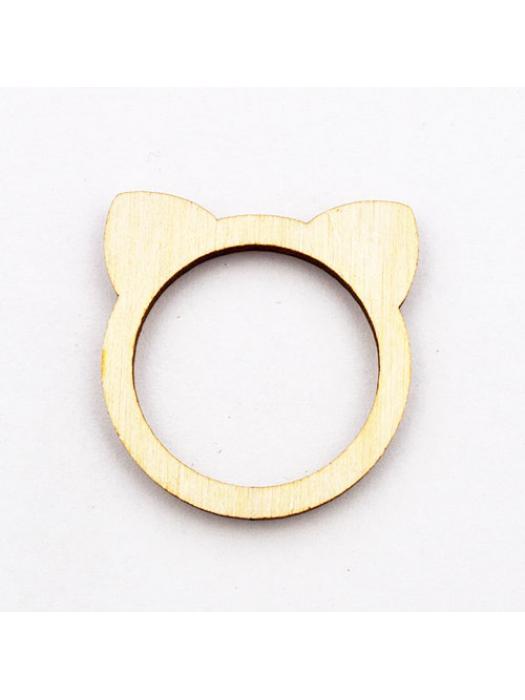 Wood pendant cat 25 mm