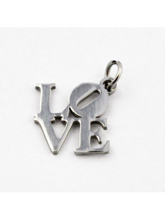 Pendant Stainless Steel  word love