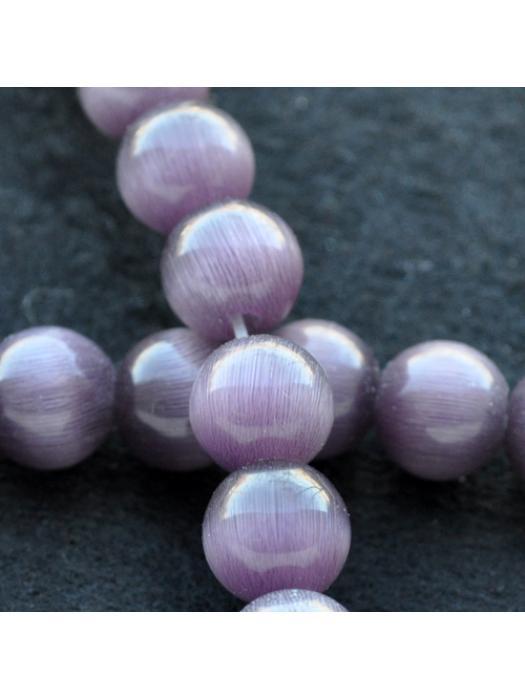 Glass bead 8 mm purpel cat eye