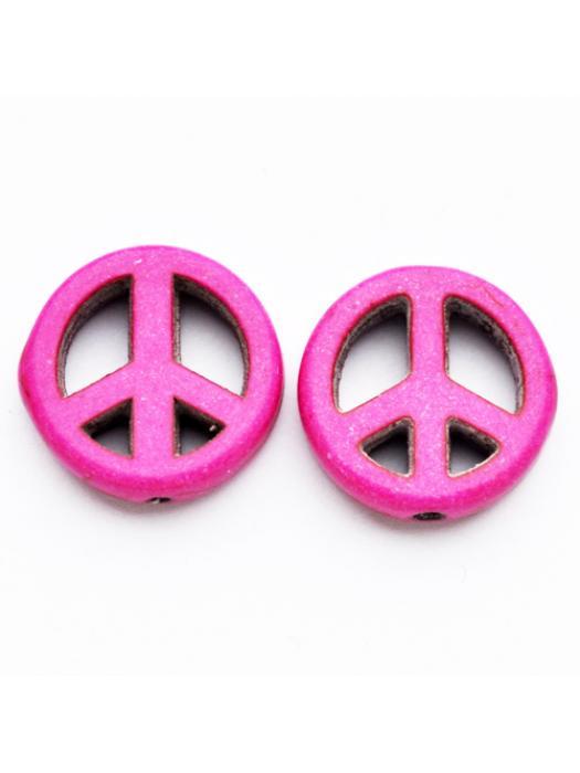 Turquise peace dark pink