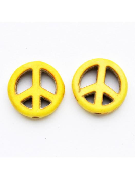 Turquise peace yellow